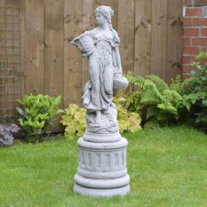 Basket-Lady-Large-Garden-Statue