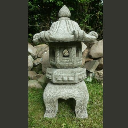 LARGE JAPANESE PAGODA LANTERN Hand Cast Stone Garden Ornament Koi ...