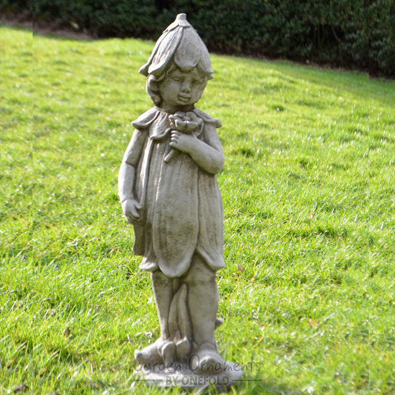 Garden Statue Fairy: BLUEBELL FAIRY Cast Stone Garden Ornament Statue Patio