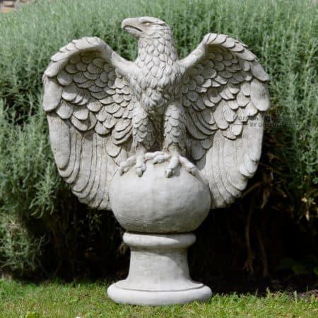 Elegant Large Eagle Garden Statue