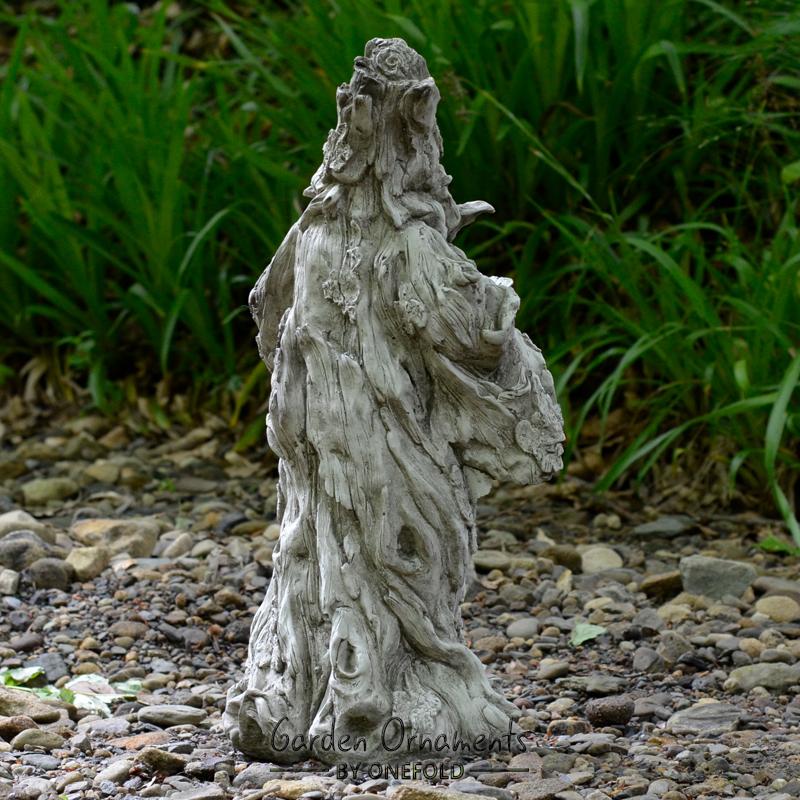 Wizard Green Man Gnome Cast Stone Garden Ornament Statue