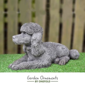 Poodle garden ornament