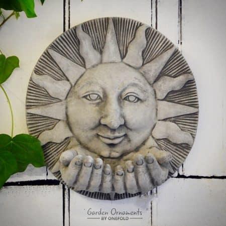 Sun Hand Garden Plaque