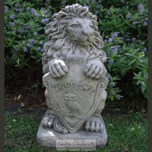 welcome lion garden statue