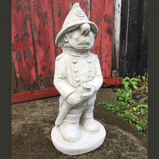fireman garden statue