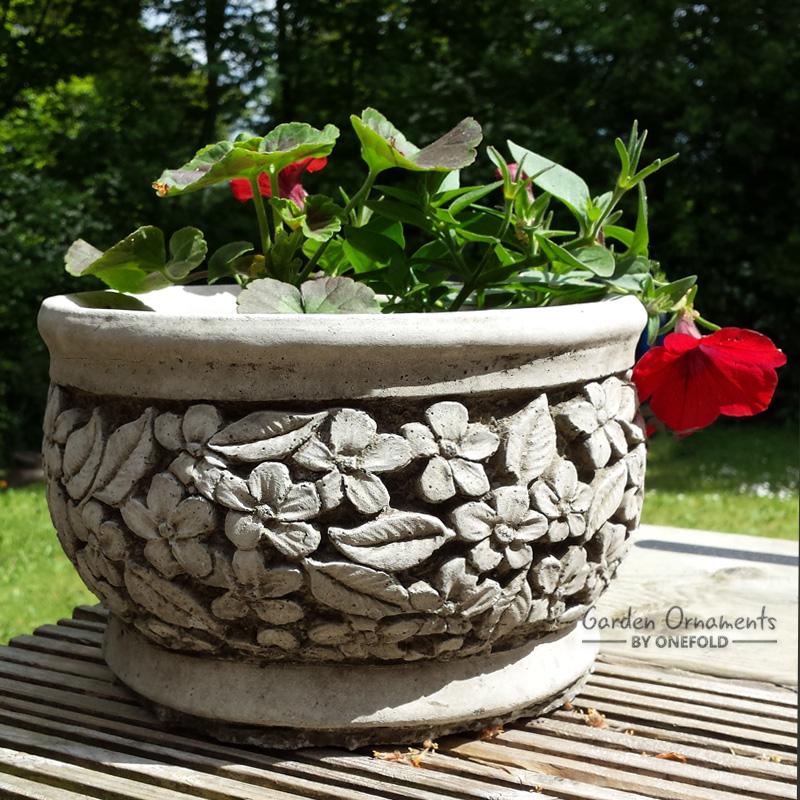 Flower pot garden ornament planter garden ornaments by for Garden decking ornaments