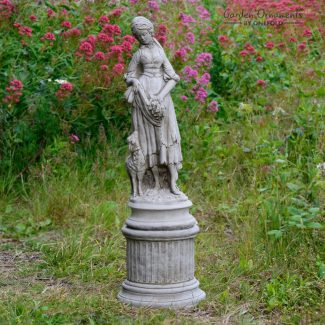 Shepherdess Stone Garden Statue