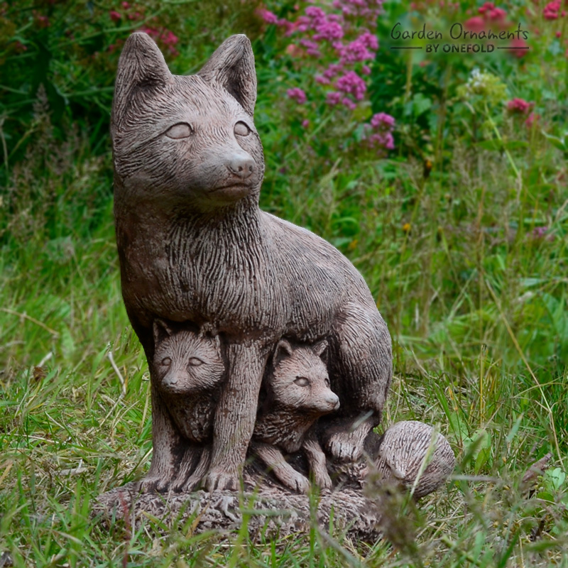 Fox Family Garden Ornament Garden Ornaments By Onefold
