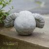 Horned Skull Garden Ornament