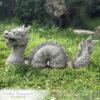 Chinese 3 piece Dragon Garden Ornament