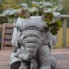 Elephant Pot Planter Garden Ornament