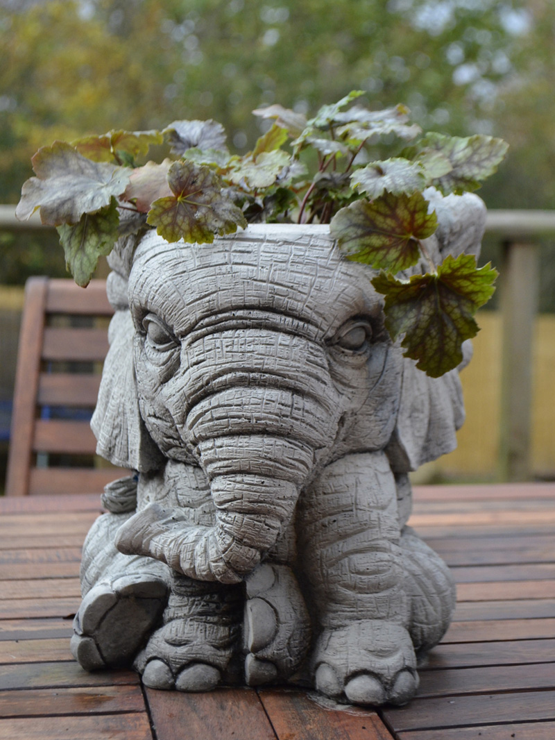 Elephant Pot Planter Garden Ornament 1
