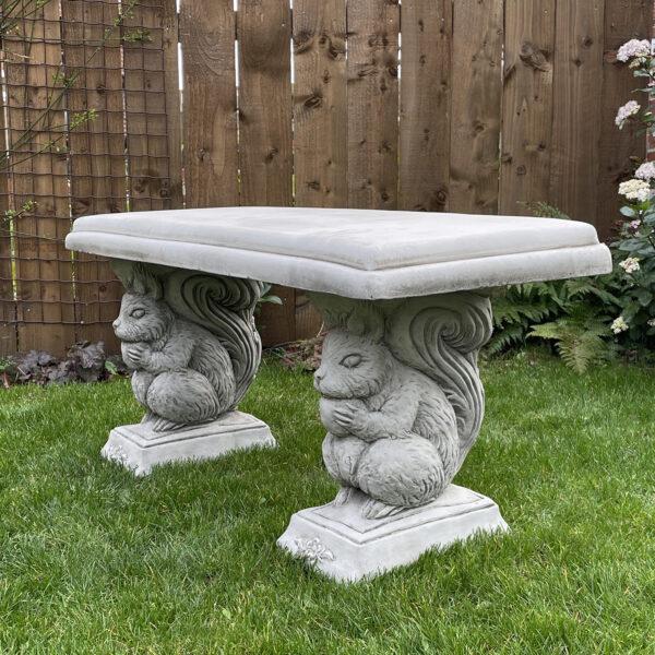 Straight Stone Garden Bench