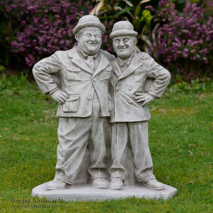 Laurel and Hardy Garden Statue