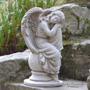 Sleeping Angel Memorial Statue Garden Ornament