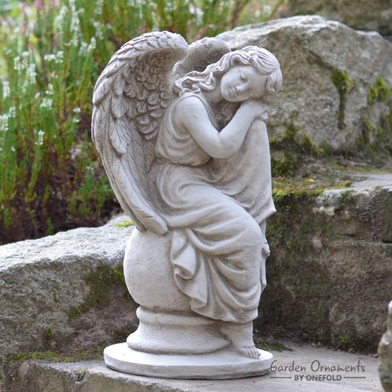 Sleeping Angel Memorial Statue Garden, Memorial Garden Ornaments