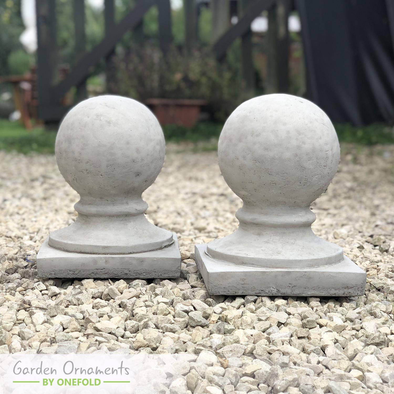 Classic Ball Pillar Cap Set of 2 1