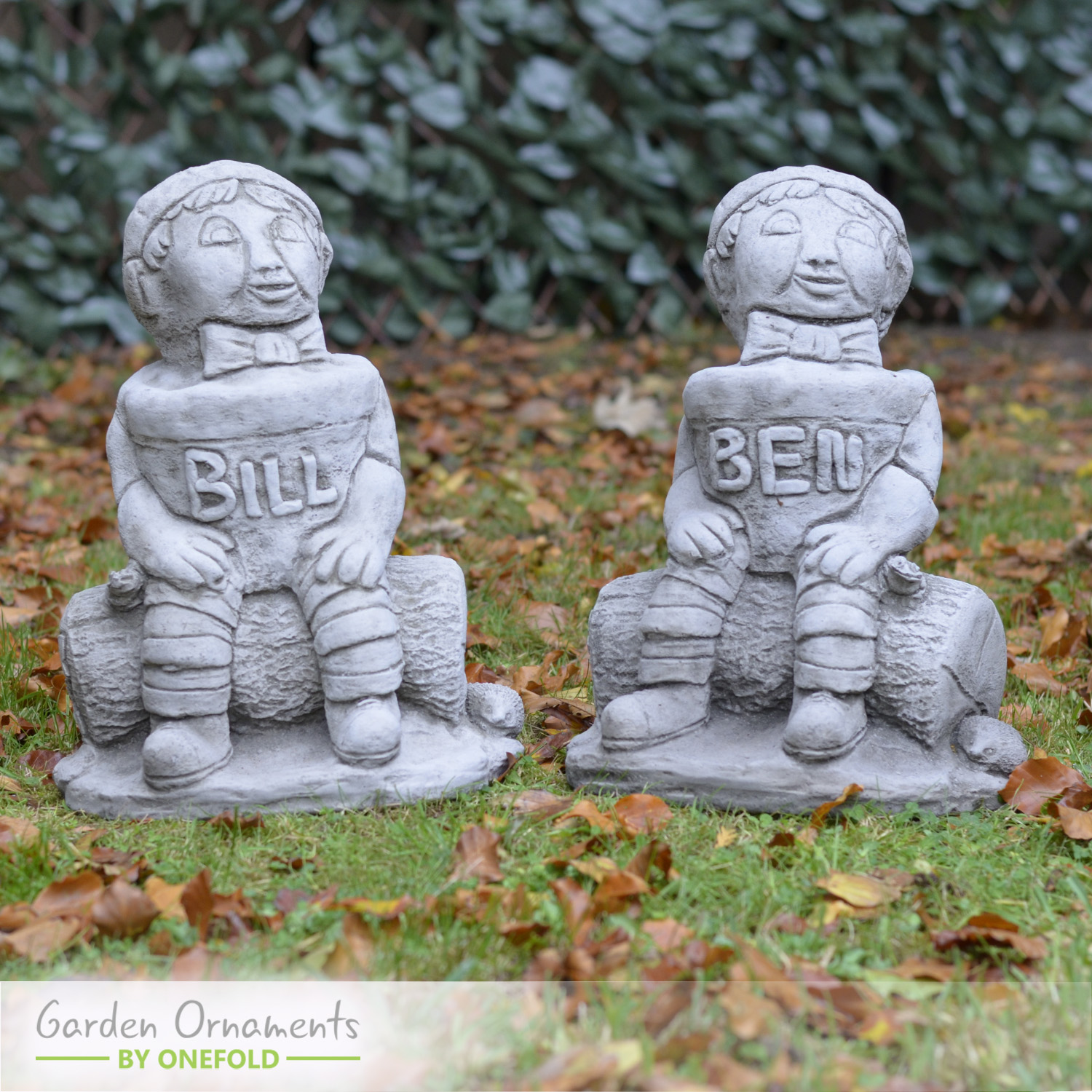 Bill and Ben Garden Statue Ornament 1