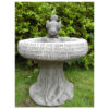 Kiss of Sun Bird Bath Hand Cast Stone Garden Ornament