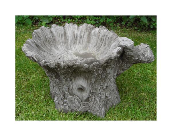 Tree Trunk Bird Bath