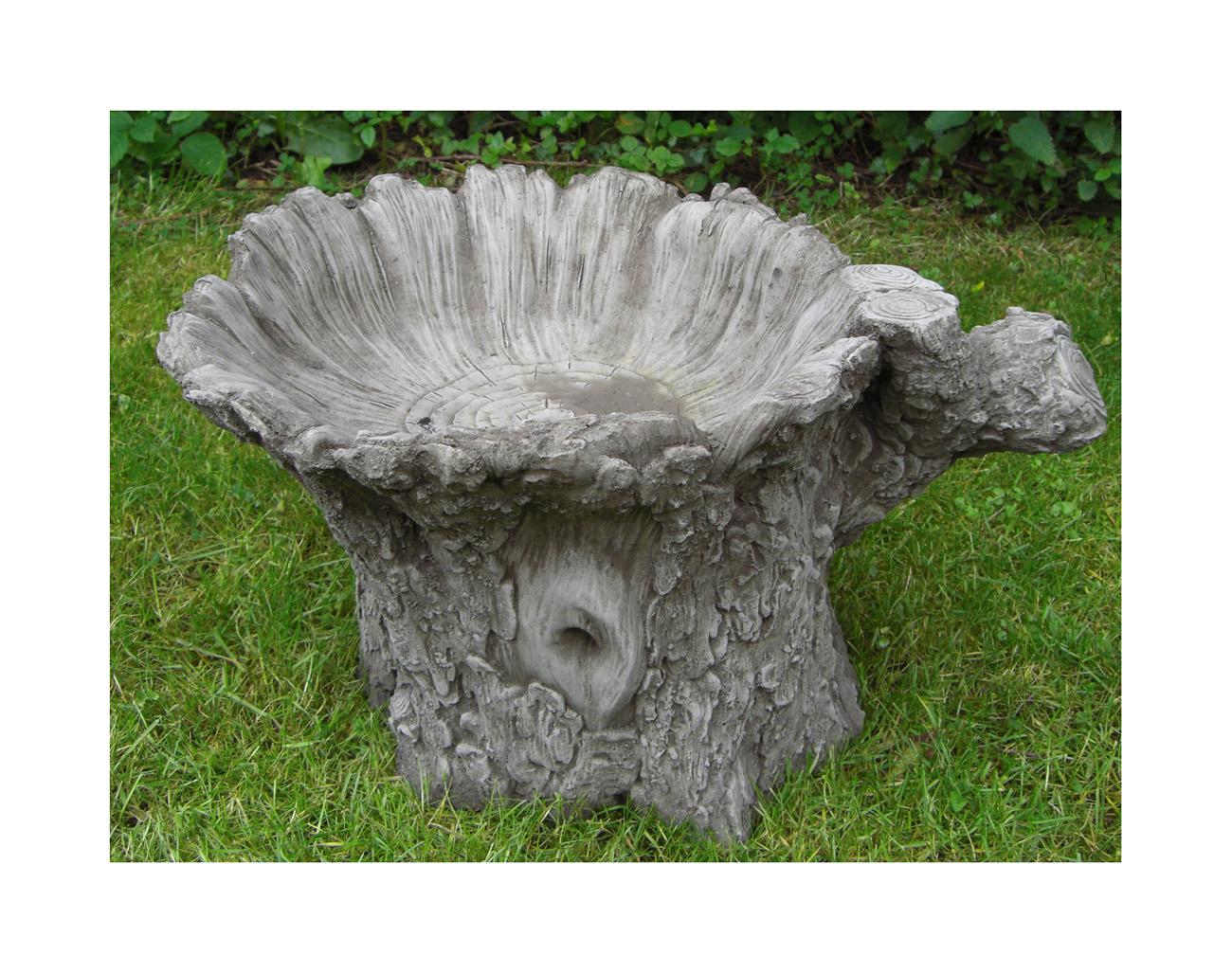 Tree Trunk Bird Bath 1