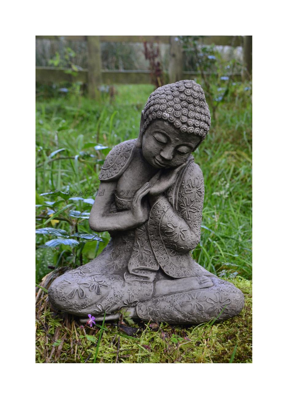 Resting Welsh Buddha Statue Garden Ornament 1