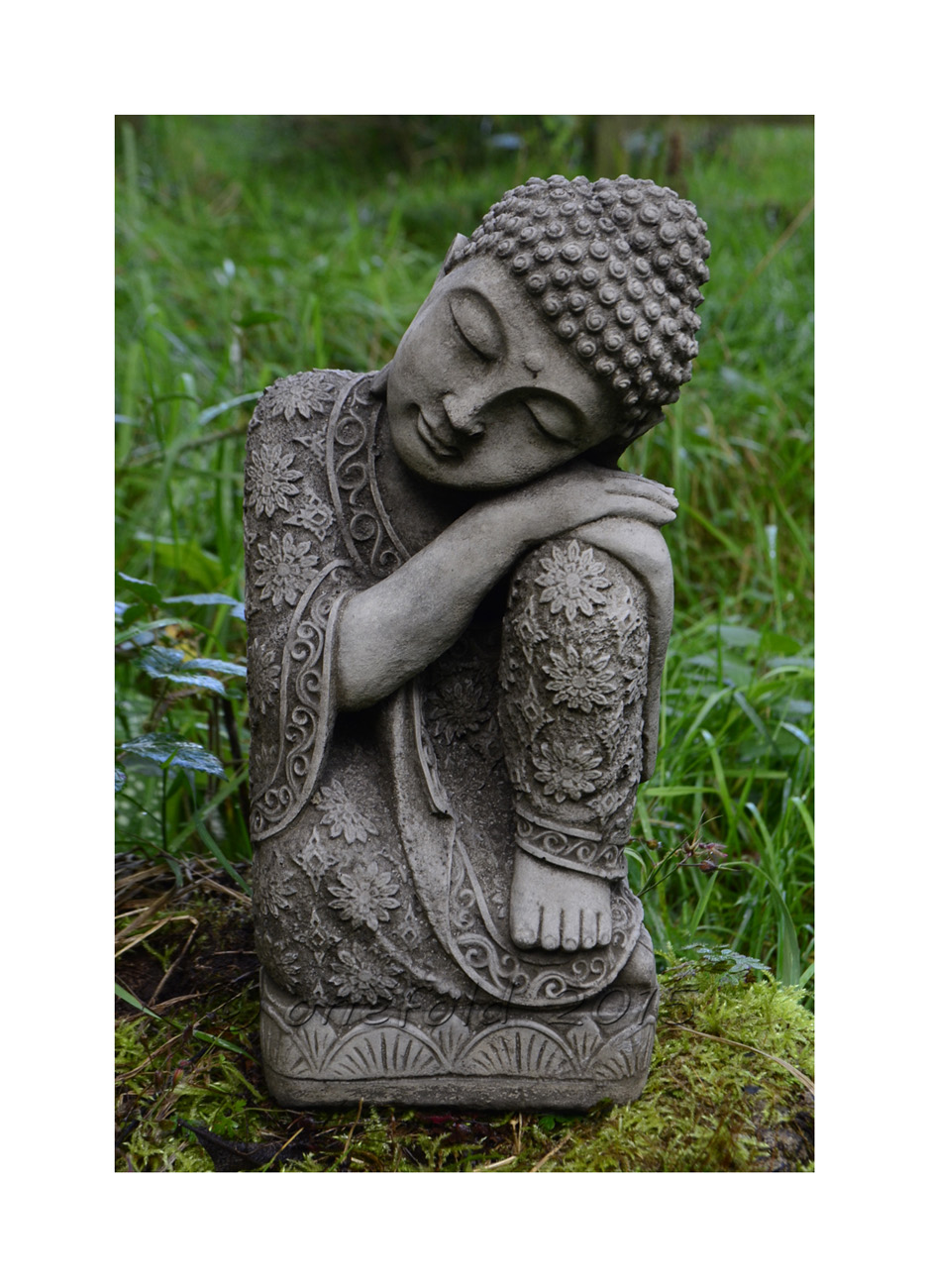 Sleeping Welsh Buddha Stone Garden Statue 1