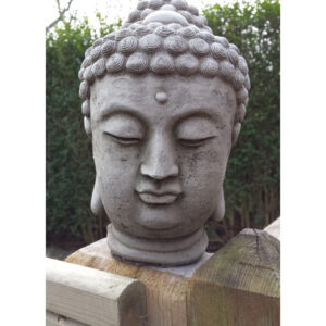 Buddha Head Garden Sculpture