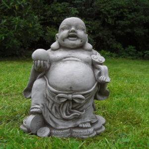 Good Fortune Buddha Statue Hand Cast Stone