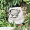 Cat in Plant Pot Garden Ornament