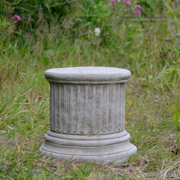 "Column Plinth Round Hand Cast Stone 9"""