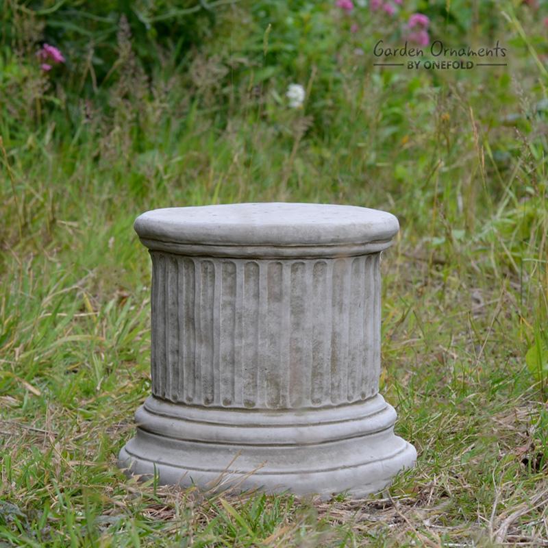 Column Plinth Round Hand Cast Stone 9″ 1