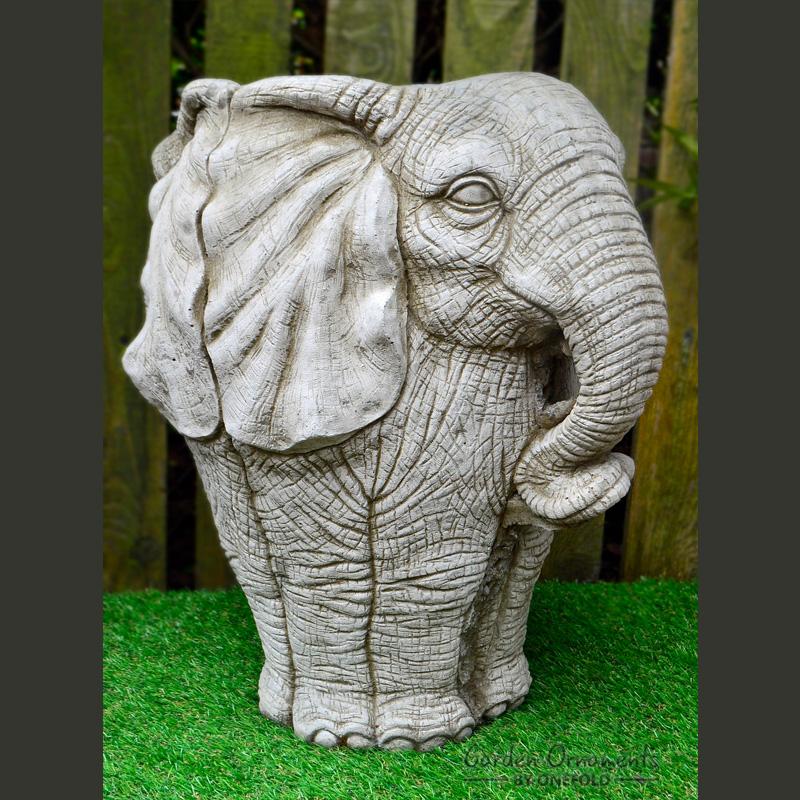 Large Elephant Pot Stone Planter Garden Ornament 1