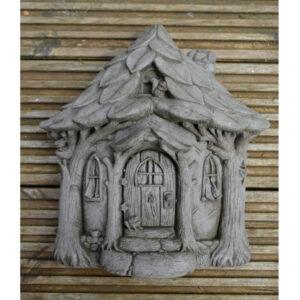 Fairy Garden House - Cast Stone Plaque