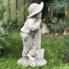 Farmer Boy Stone Garden Ornament