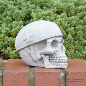 German Skull Stone Garden Ornament