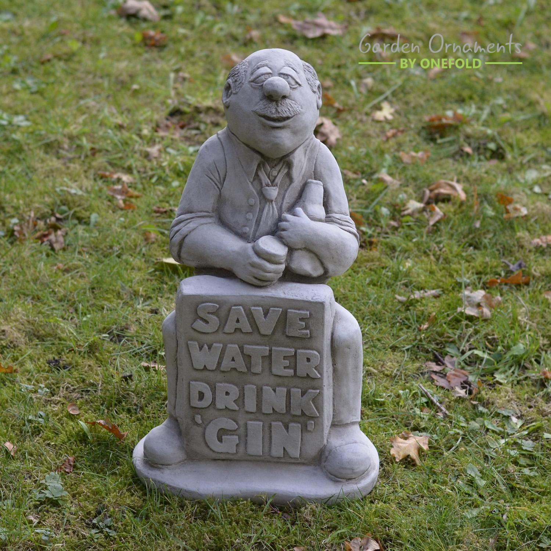 Gin Man Garden Statue 1