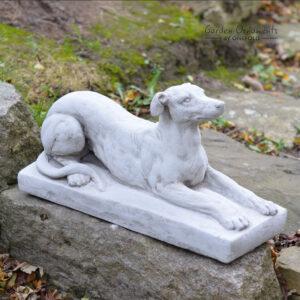 Greyhound on Plinth Garden Ornament Statue