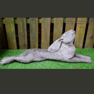 Moon Gazing Hare - reclining Garden Ornament
