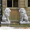 Large Lion Garden Statue Pair