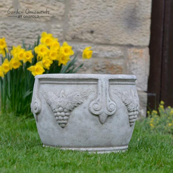 Large Vine Pot Planter Stone Garden Ornament