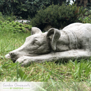 Large Lying Greyhound Garden Statue