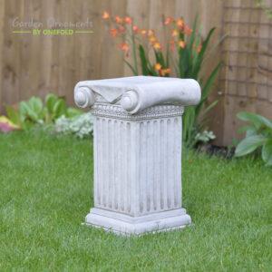 Roman Column Cast Stone Ornament