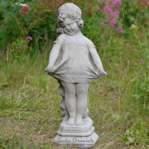 Shy Girl Statue Garden Ornament