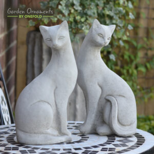 Siamese Cat Pair Garden Ornaments