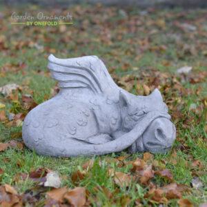 Magic Sleeping Dragon Stone Statue