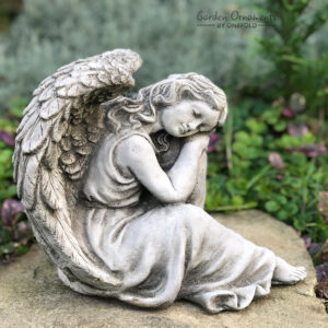 Sleeping Angel Garden Ornament Statue
