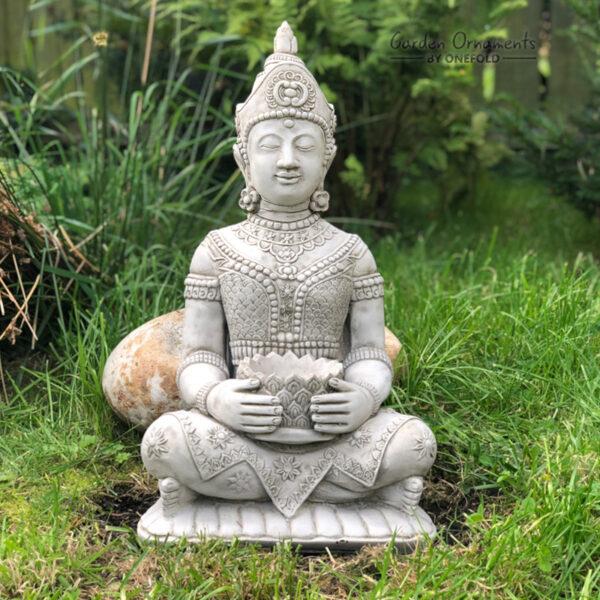 Lotus Buddha Garden Ornament Statue