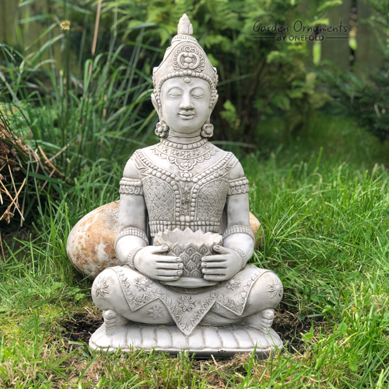 Lotus Buddha Garden Ornament Statue 1