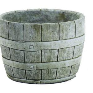 Barrel Cast Stone Large Planter